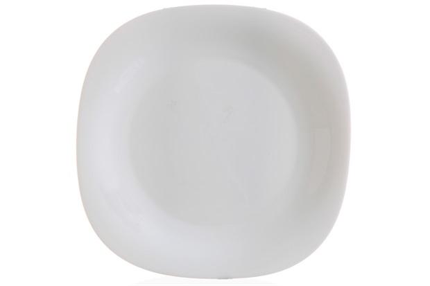 Prato Raso em Vidro Opalino Carine 26cm Branco - Casa Etna