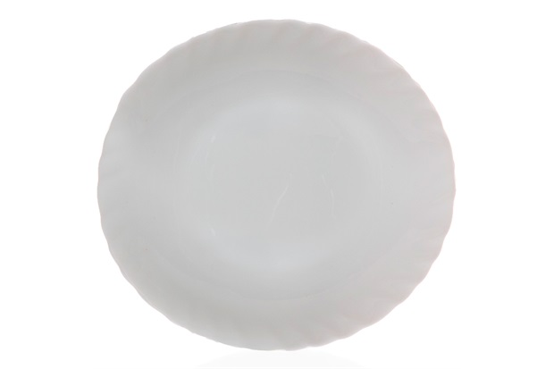 Prato Sobremesa em Vidro Opalino Prima 20cm Branco - Casa Etna