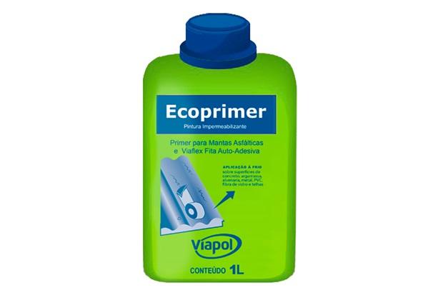 Primer para Manta Asfáltica Ecoprimer Marrom 1 Litro - Viapol
