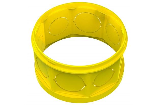 "Prolongador em Pvc para Caixa de Luz Octogonal Flex 4x4"" Amarela - Tigre"