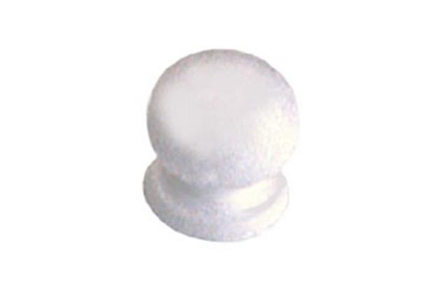 Puxador Botão Branco em Alumínio Ref. 430 - Brumet