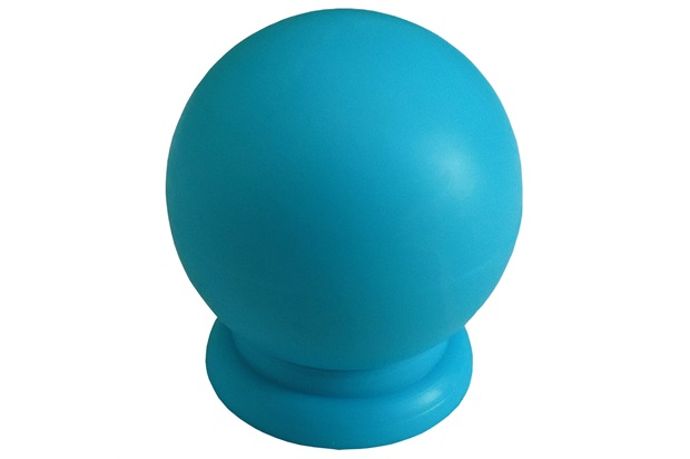 Puxador em Abs Bola Grande Azul - Fixtil