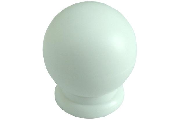 Puxador em Abs Bola Grande Branco  - Fixtil