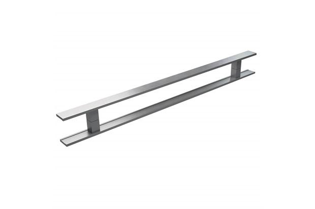 Puxador em Alumínio Escovado Milão 80cm Cinza - Brimak