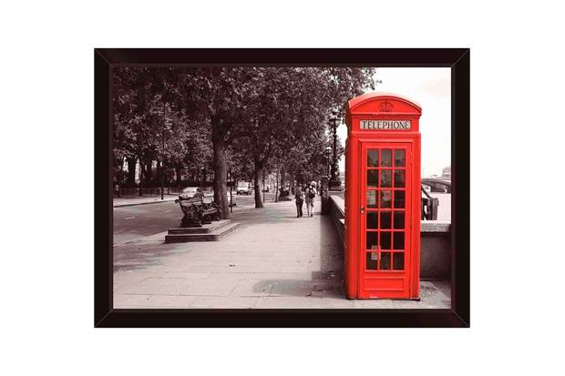 Quadro Cabine Londres 39x29cm  - Euroquadros