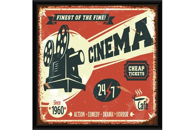Quadro Cinema 49x49cm - Euroquadros