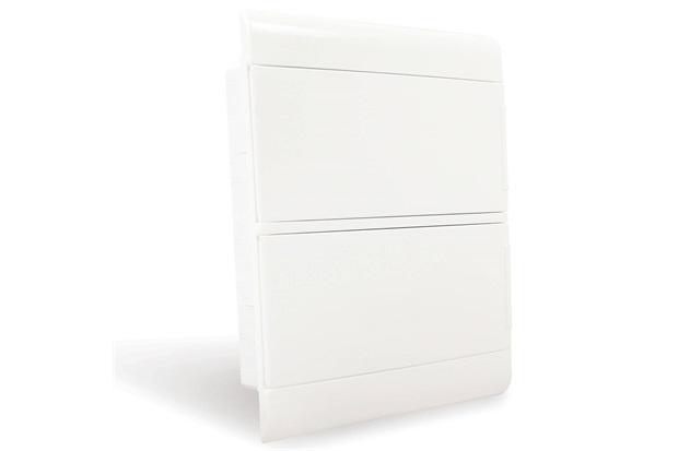 Quadro de Distribuição de Embutir 24 Disjuntores Din Opaca - Steck