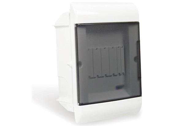 Quadro de Distribuição de Embutir 5 Disjuntores Din Fumê - Steck