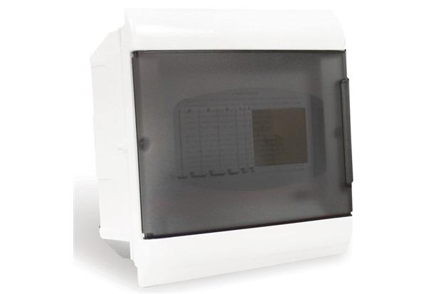 Quadro de Distribuição de Embutir 8 Disjuntores Din Fumê - Steck