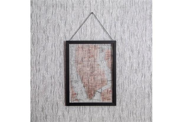 Quadro de Pendurar Mapa 1 43x33cm - Casa Etna