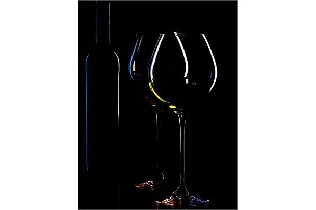 Quadro Decorativo em Vidro Wine Taças 30x40cm - E2G Design
