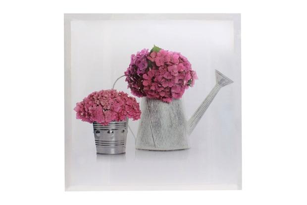 Quadro Decorativo Regador de Flores 50x50cm - Importado