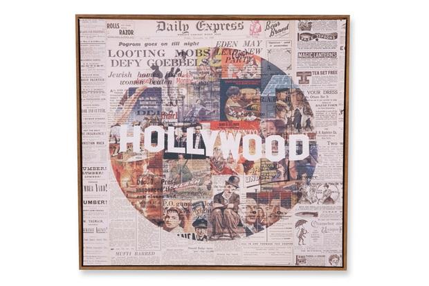 Quadro em Canvas Colagem Hollywood 70cm - Casa Etna