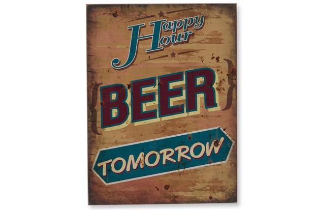 Quadro em Madeira Beer Tomorrow 40x30cm - Casa Etna