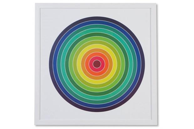 Quadro em Madeira Gravura Circles 64cm Colorido - Casa Etna