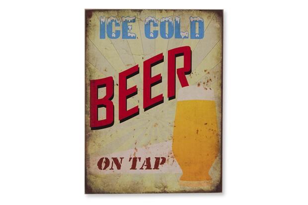 Quadro em Madeira Ice Beer 40x30cm - Casa Etna
