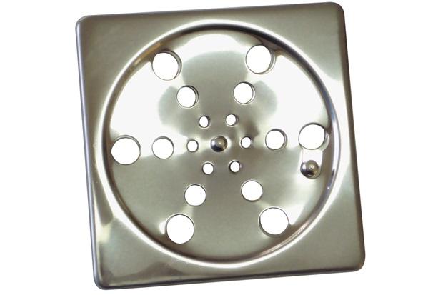 Ralo em Aço Quadrado Simples 100mm Cromado - Aminox