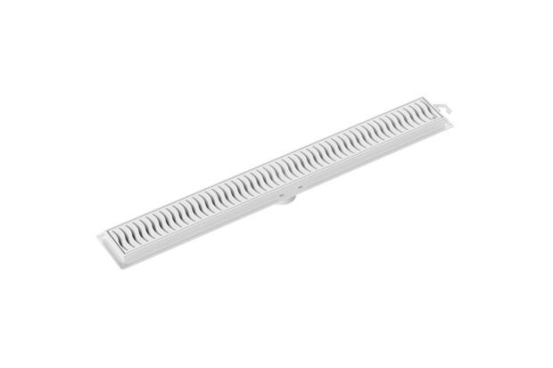 Ralo Linear com Grelha 50cm Branca - Tigre