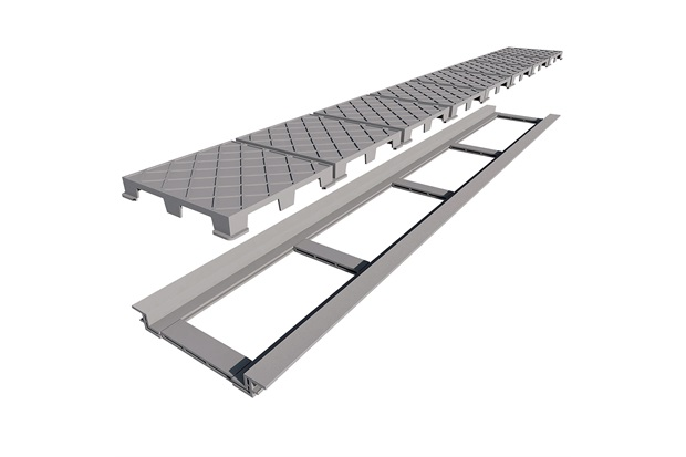 Ralo Linear em Pvc com Tampa Oculta Infiniy Plus 130cm - Elleve