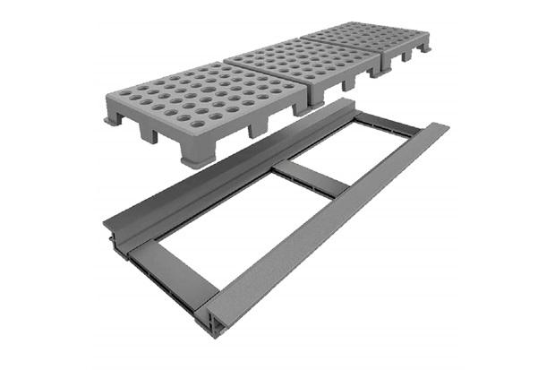 Ralo Linear Infinity Fun com Tampa Vazada Pvc 16x50cm Cinza - Linear