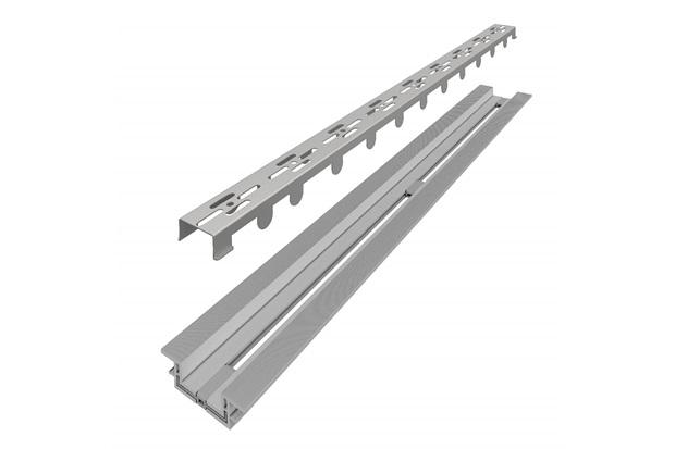 Ralo Linear Infinity Slim com Tampa Vazada Inox 11x80cm Cromado - Linear