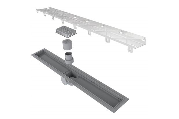 Ralo Linear Smart Sifonado com Tampa Oculta 12x70cm Cinza - Linear