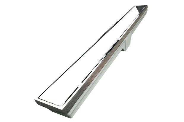 Ralo Retangular em Alumínio com Grelha Linear E Saída Inferior Elegance 7x90cm Cromado - Costa Navarro