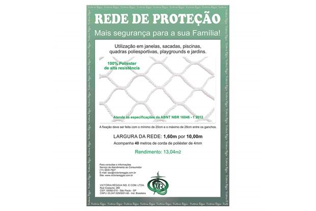 Rede de Proteção em Poliéster Protec 160cm com 10 Metros Branca - Protej
