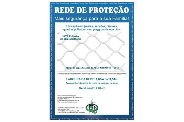 Rede de Proteção em Poliéster Protec 160cm com 3,5 Metros Branca - Protej