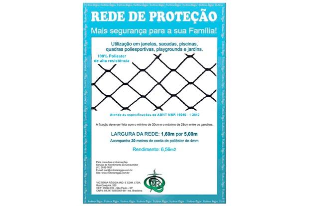 Rede de Proteção em Poliéster Protec 160cm com 5 Metros Preta - Protej