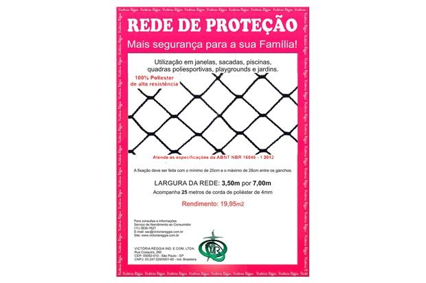 Rede de Proteção em Poliéster Protec 350cm com 7 Metros Preta - Protej