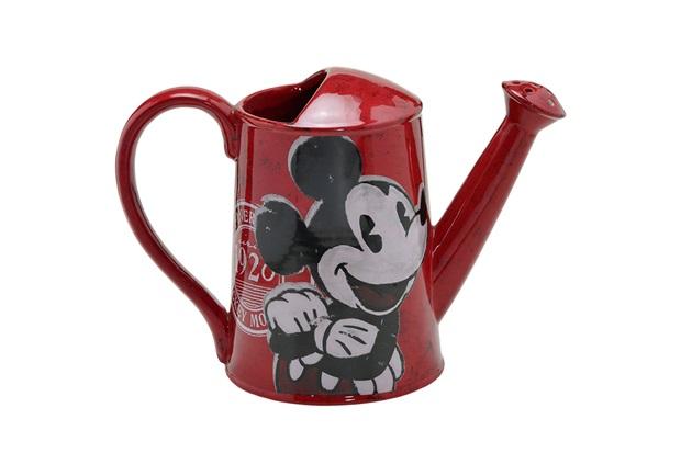 Regador Cerâmico Mickey 20x28cm Vermelho - Importado
