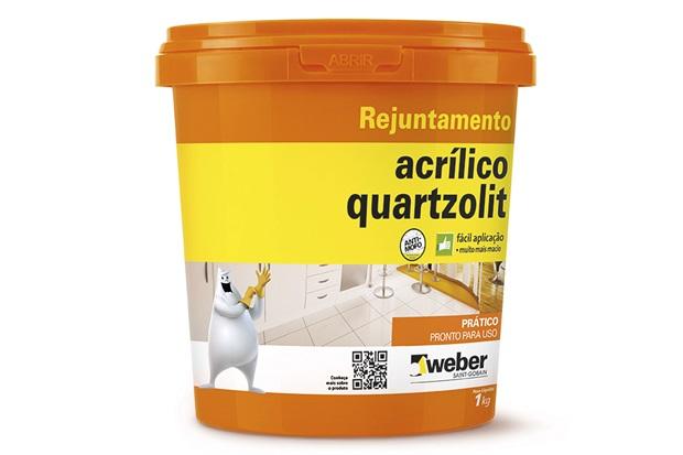 Rejunte Acrílico Cinza Outono 1kg - Quartzolit