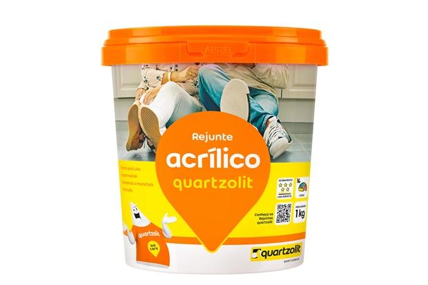 Rejunte Acrílico Cinza Platina 1kg - Quartzolit