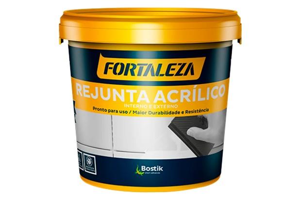 Rejunte Acrílico para Porcelanato Platina 1kg - Fortaleza