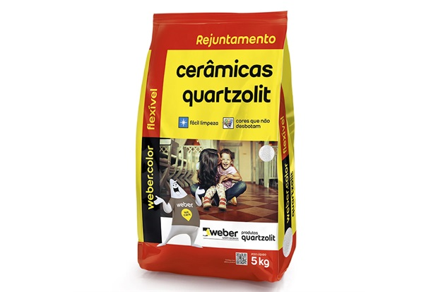 Rejunte Aditivado Flexível Bege 5kg - Quartzolit