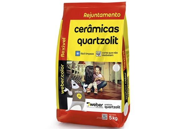 Rejunte Aditivado Flexível Cinza Platina 5kg - Quartzolit