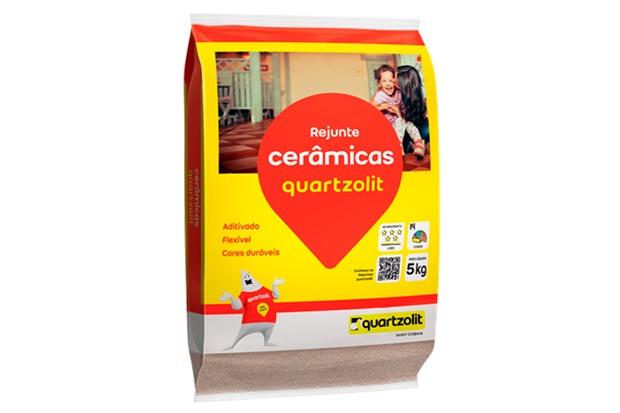 Rejunte Aditivado Flexível Palha 5kg - Quartzolit