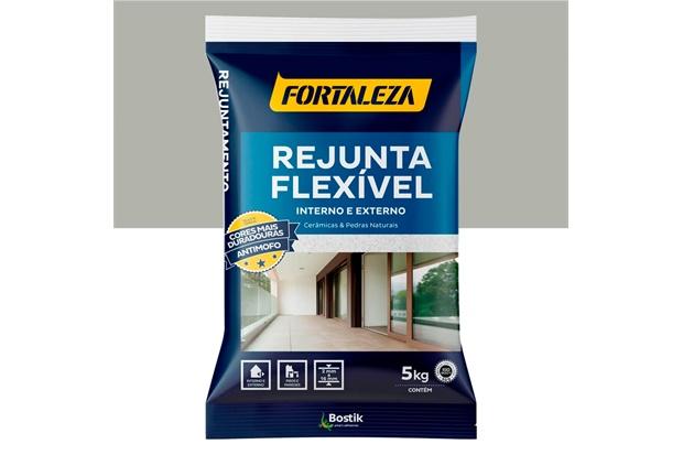 Rejunte Flexível para Pisos E Azulejos Cinza 5kg - Fortaleza