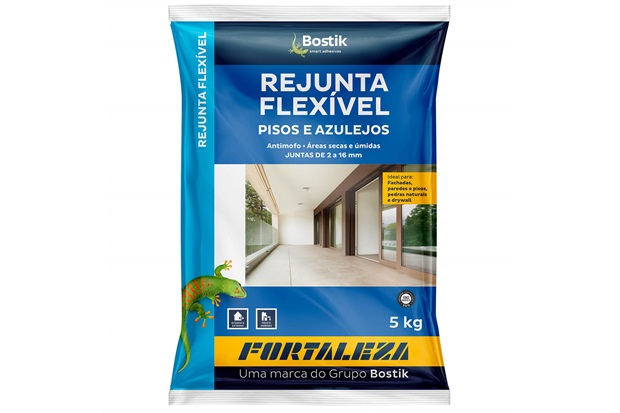 Rejunte Flexível para Pisos E Azulejos Grafite 5kg - Fortaleza