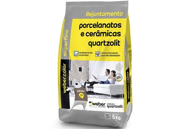 Rejunte para Porcelanatos E Cerâmicas Branco 5kg - Quartzolit