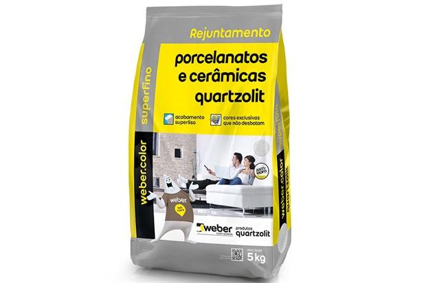 Rejunte para Porcelanatos E Cerâmicas Carvalho 5kg - Quartzolit