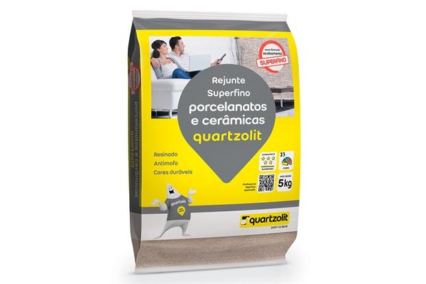 Rejunte para Porcelanatos E Cerâmicas Cinza Ártico 5kg - Quartzolit