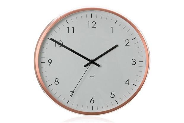 Relógio de Parede Concept 31cm Acobreado - Casa Etna