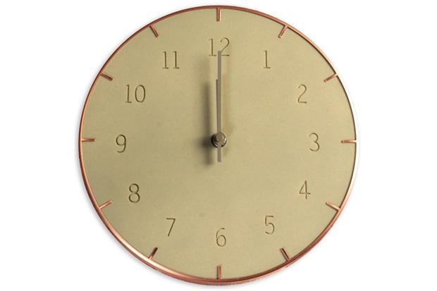 Relógio de Parede Piatto 25cm Concreto - Casa Etna