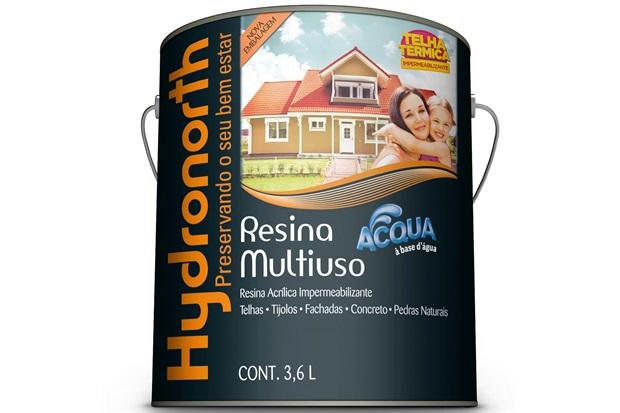 Resina Acrílica Impermeabilizante Multiuso Acqua Incolor 3,6 Litros - Hydronorth