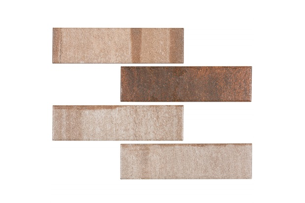 Revestimento Acetinado Borda Bold All Bricks Baltimore Reddish 7x26cm - Portobello
