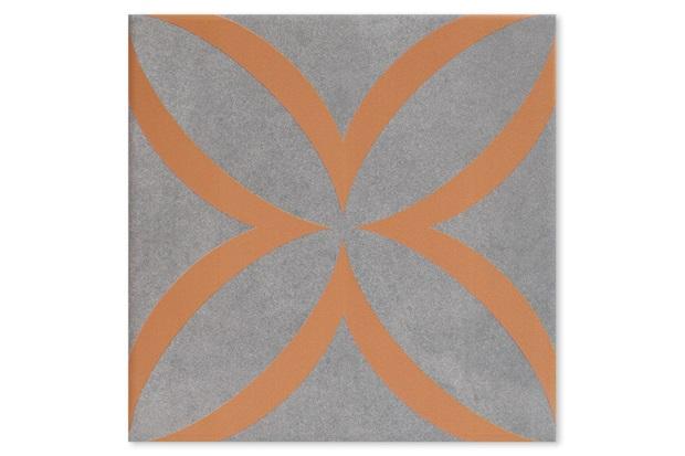 Revestimento Acetinado Borda Bold Patch Orange 21,5x21,5cm - Incepa