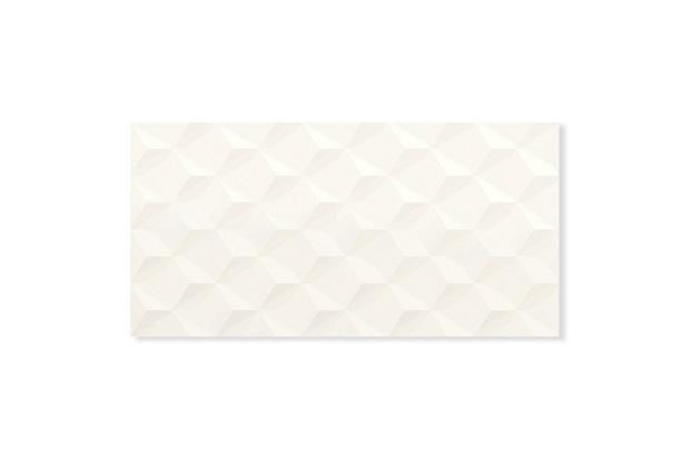 Revestimento Acetinado Borda Reta Charm Cubic White 29,1x58,4cm - Portinari