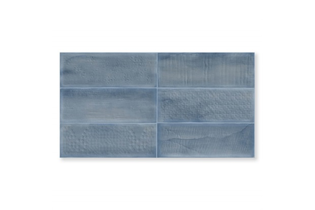 Revestimento Acetinado Borda Reta Laterizi Blu Azul 32x60cm - Biancogres